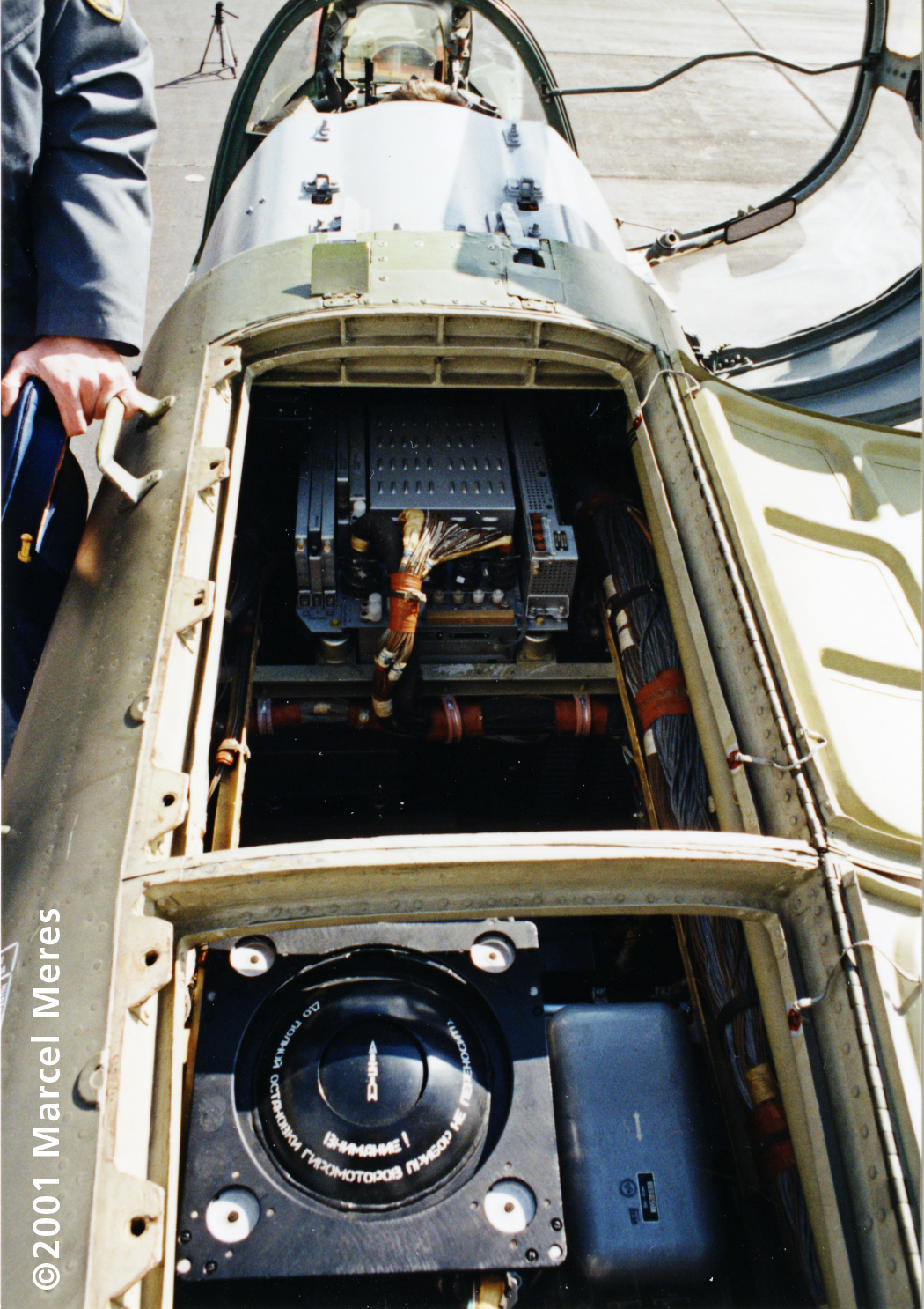Opened bay, roof Su-25