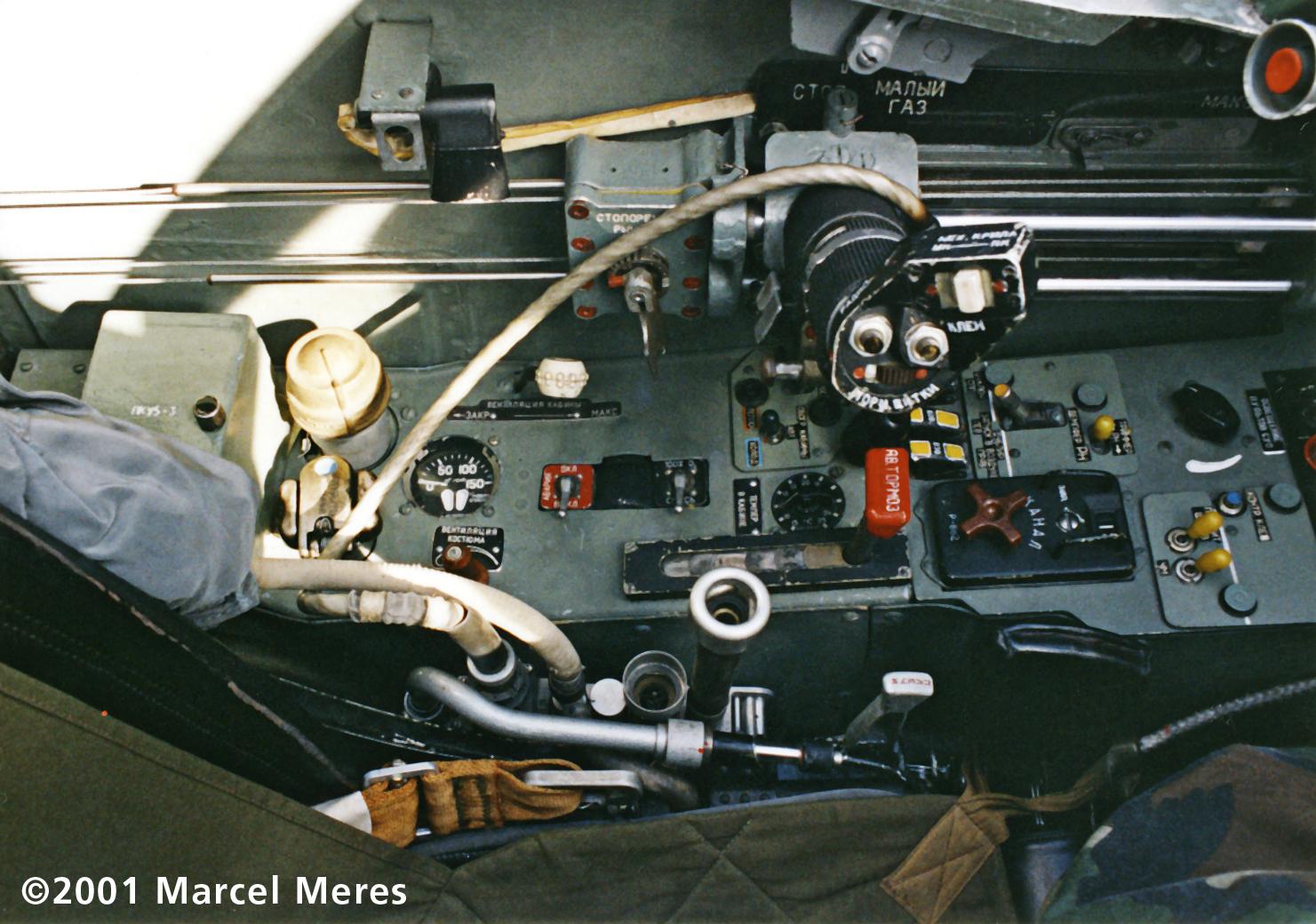 Su-25 Cockpit Left console