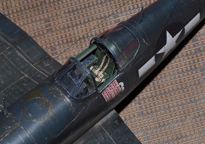 F4U-4 Corsair I. cockpit and canopy close-up
