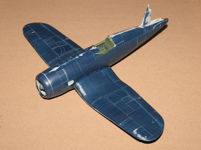 F4U-4 Corsair I. finished surface