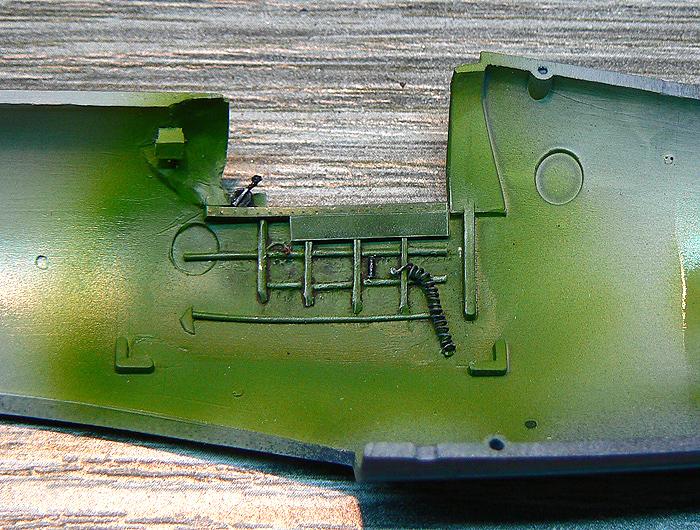 F4U-4 Corsair I. cockpit scratchbuild, wall