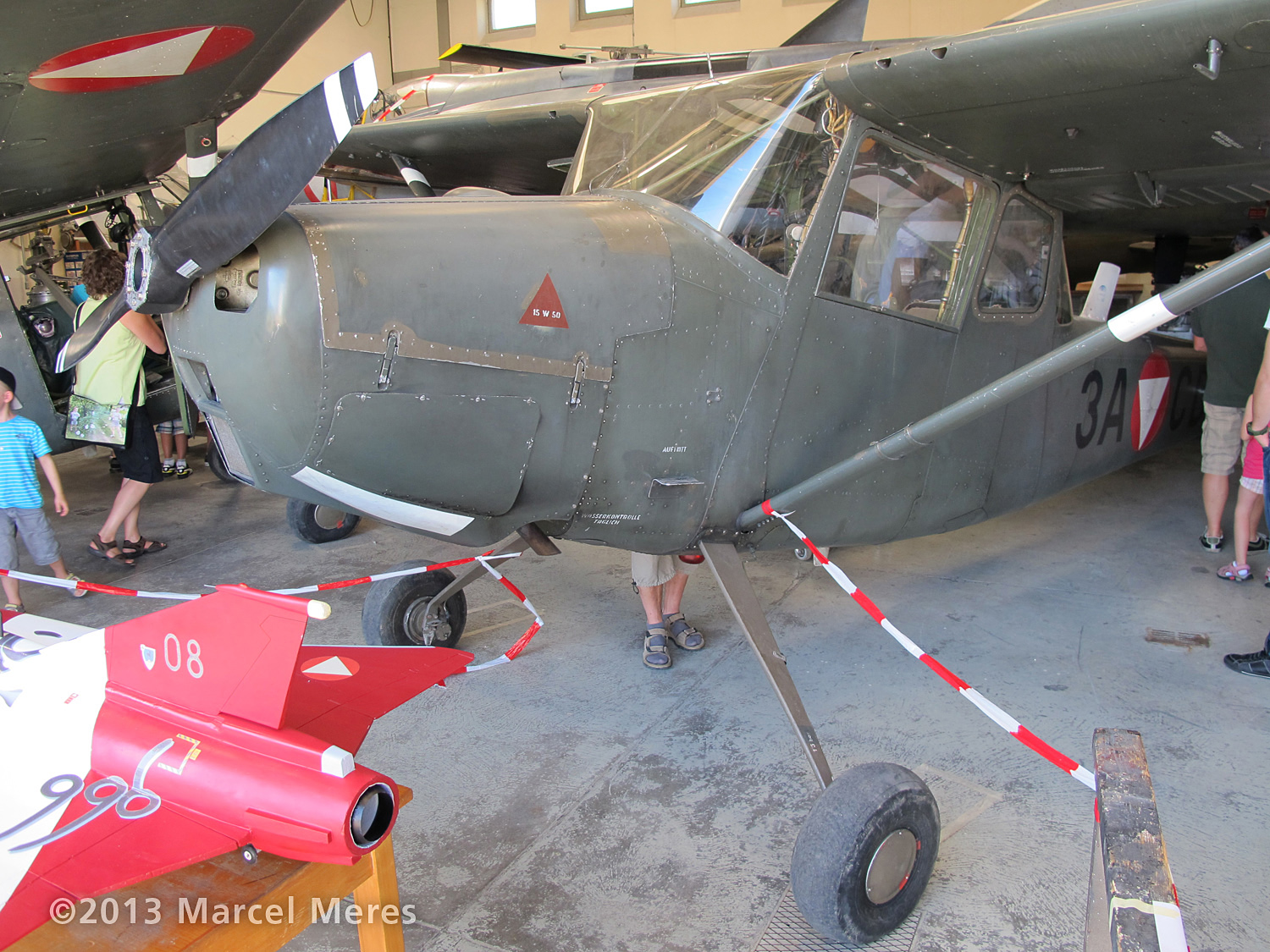 Cessna O-1 / L-19 Bird Dog, Austrian army, Front view
