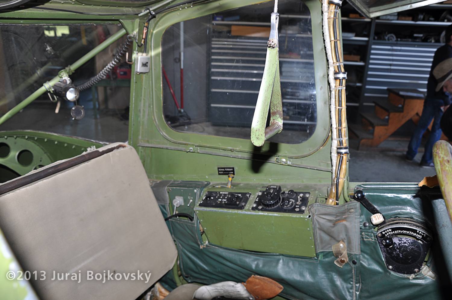 Cessna O-1 / L-19 Bird Dog, Austrian army, Cockpit, observer's office