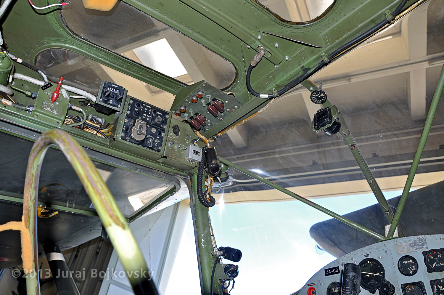 Cessna O -1 / L-19 Bird Dog, Austrian army, cockpit, front, windscreen