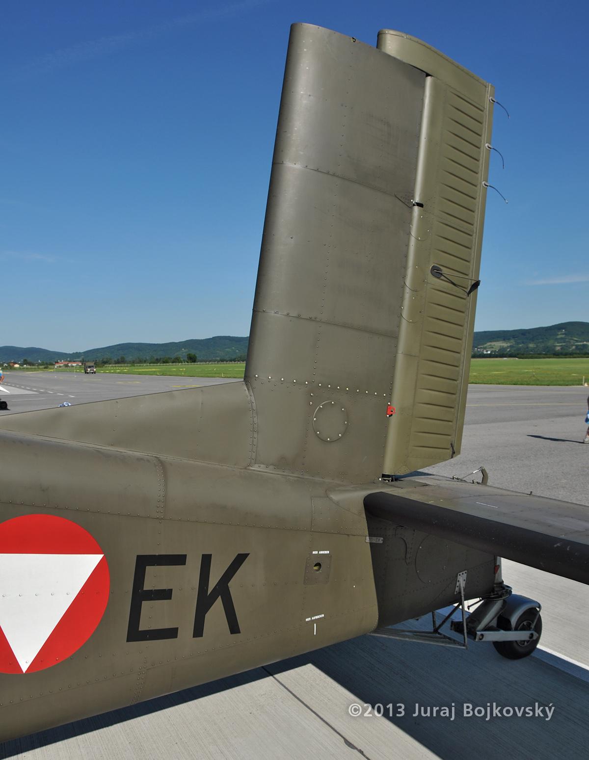 Pilatus Porter, Austrian Army, Tail, Stabilizers