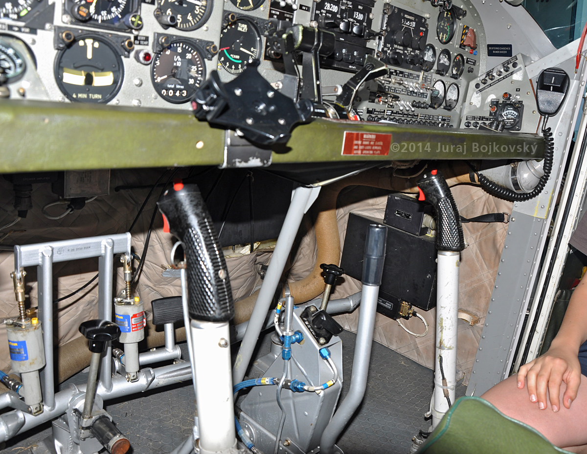 Pilatus Porter cockpit, below main instrument panel, right
