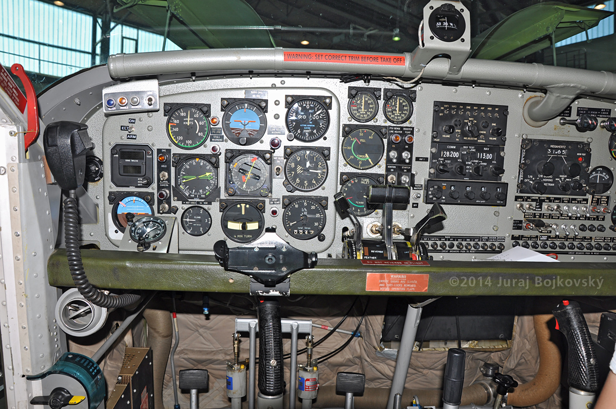 Pilatus Porter cockpit, main instrument panel, left-hand portion