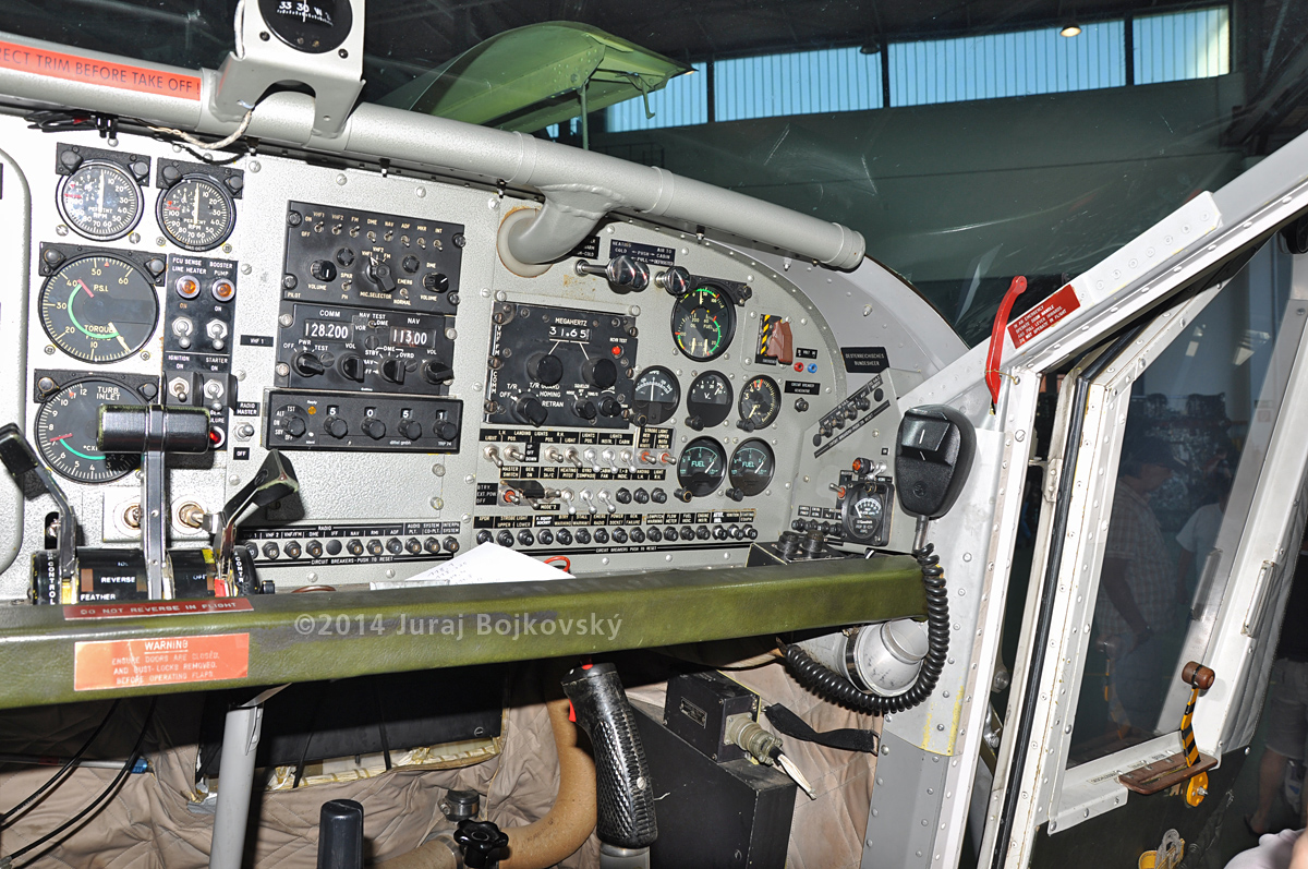 Pilatus Porter cockpit, main instrument panel, right-hand portion