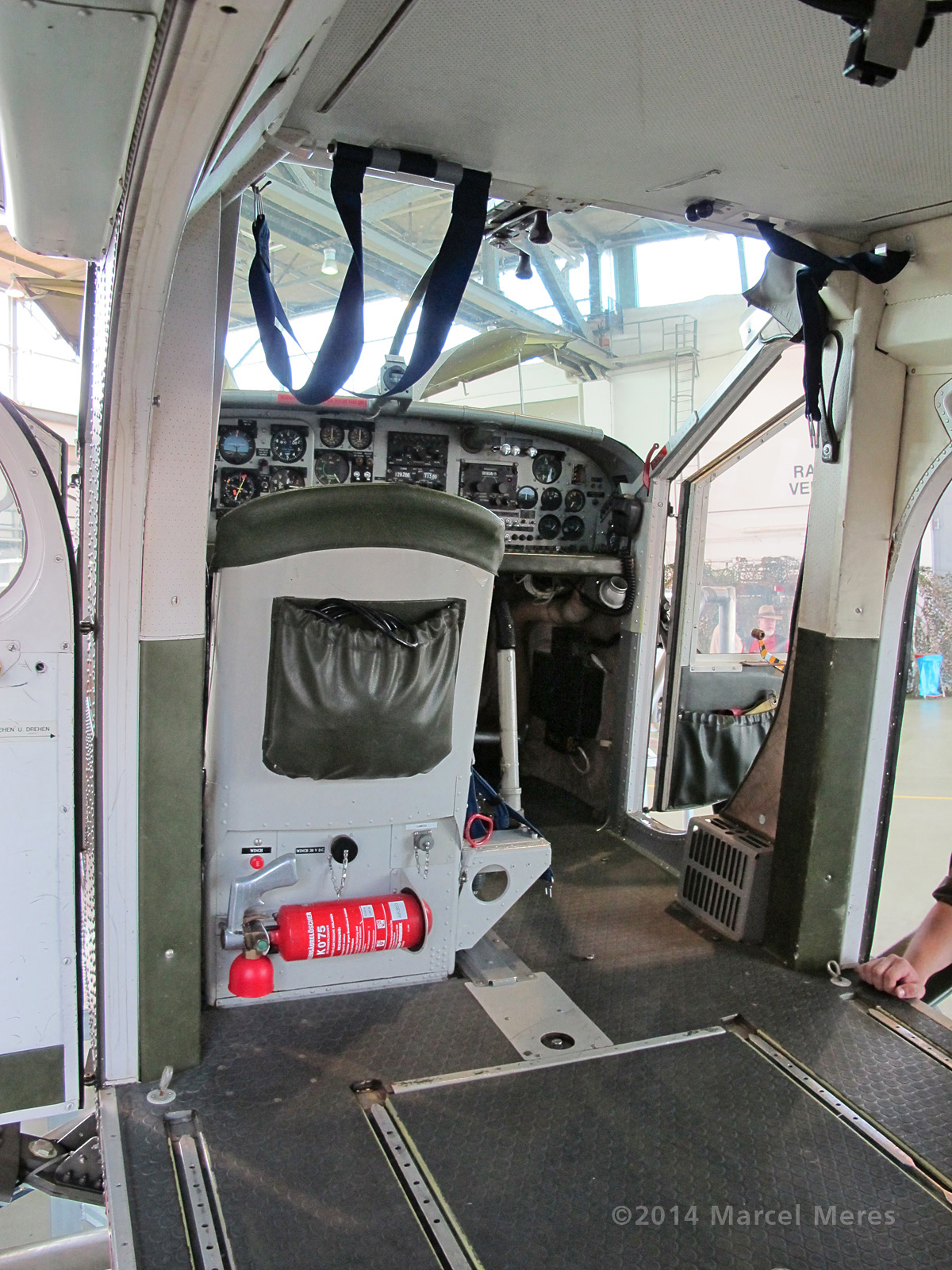 Pilatus Porter cockpit, overview, looking forward