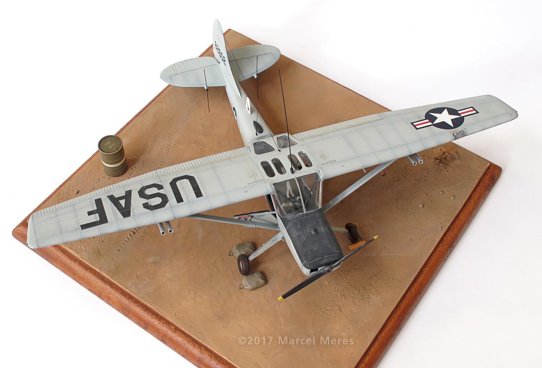 Cessna O-1E Bird Dog, front, top