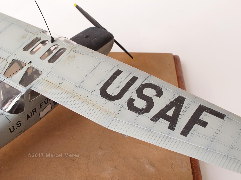 Cessna O-1E Bird Dog, wing, close up