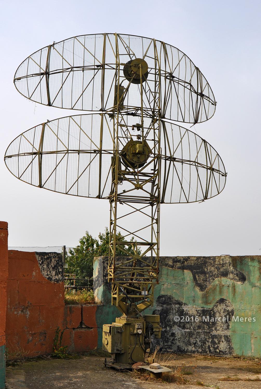 Anténa radaru, pohľad odzadu
