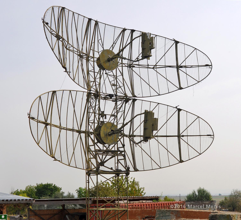 Radar, anténa, pohľad spredu