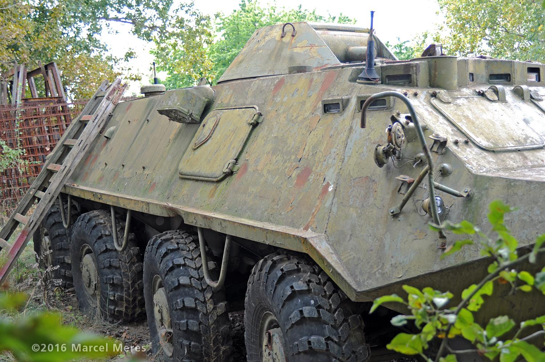 BTR 60 pravý bok, predok