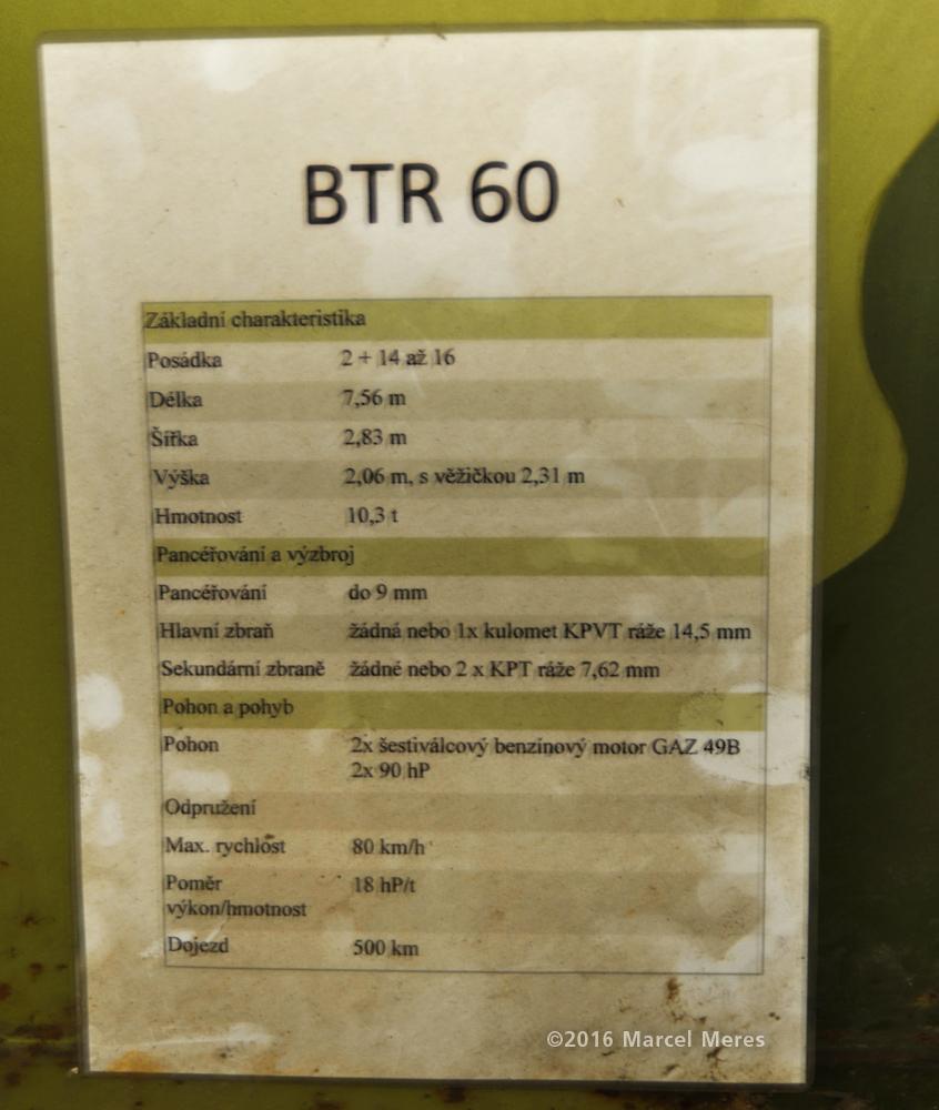 BTR 60 Parametre