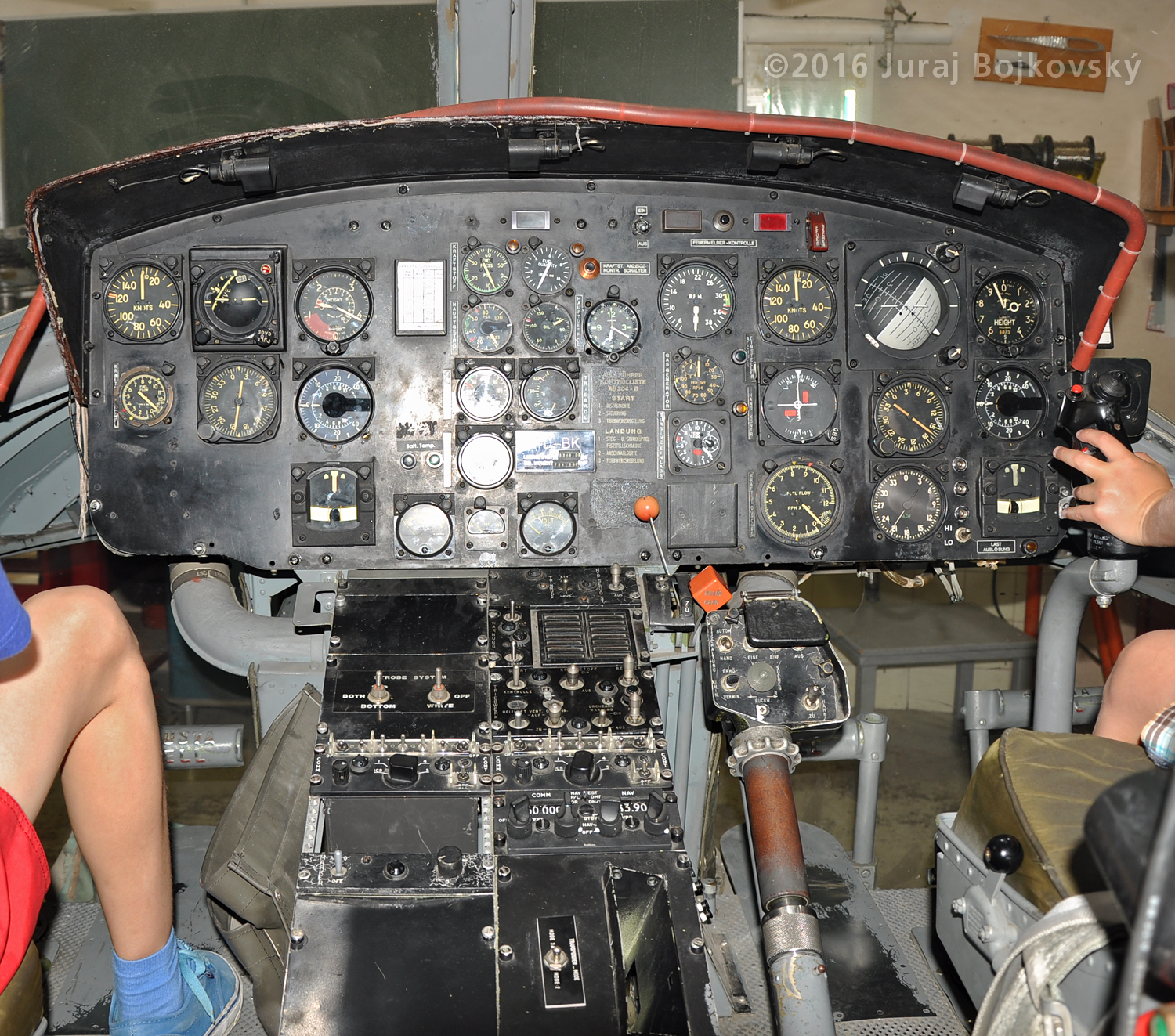 Bell UH-1B Main Instrument panel plus Central console view