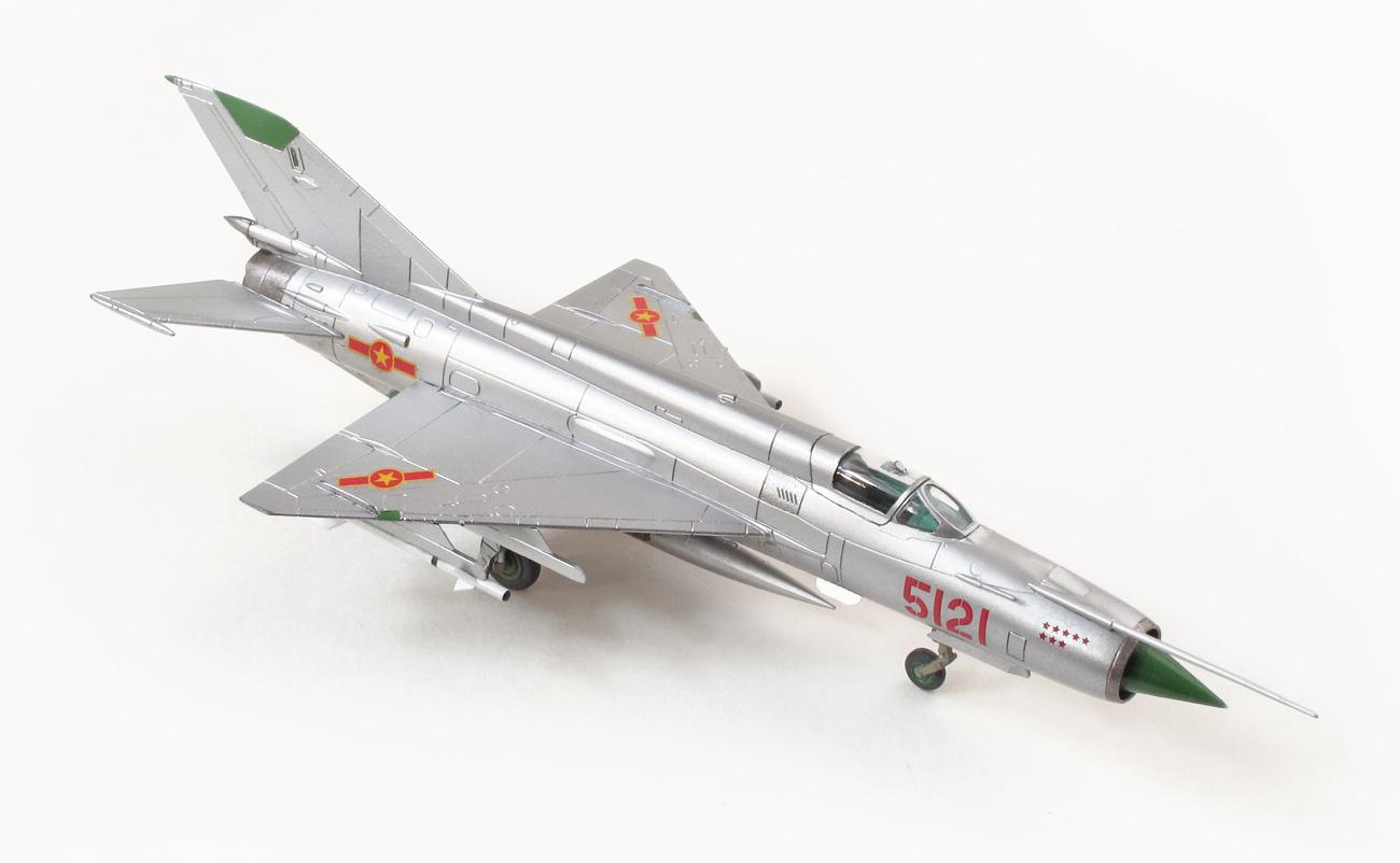 MiG-21MF eduard 1/144 zvrchu, pravá strana
