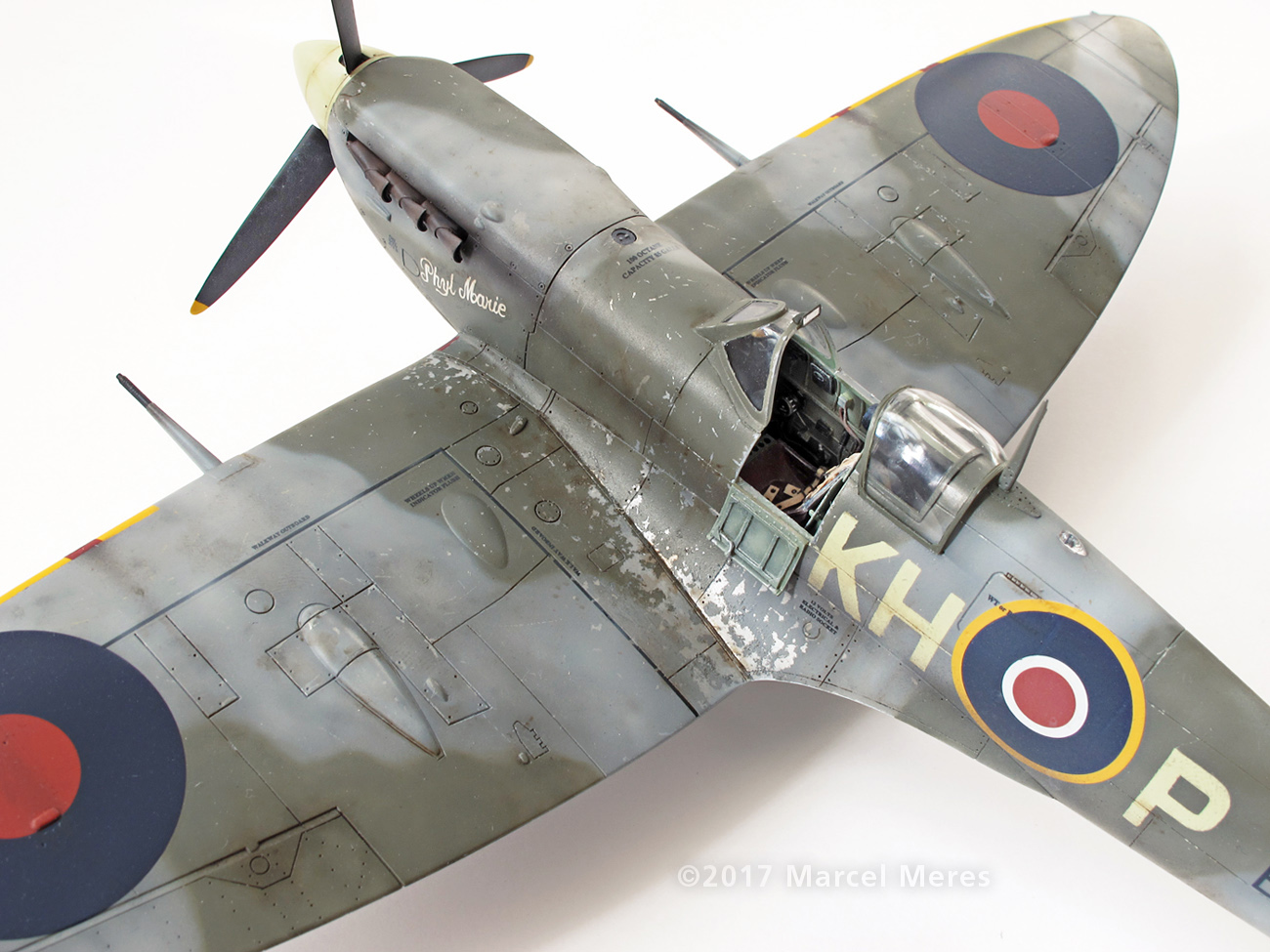 Spitfire Mk.Vb Tamiya 1/48 Phyl Marie, Close-up view, From Rear, Port side