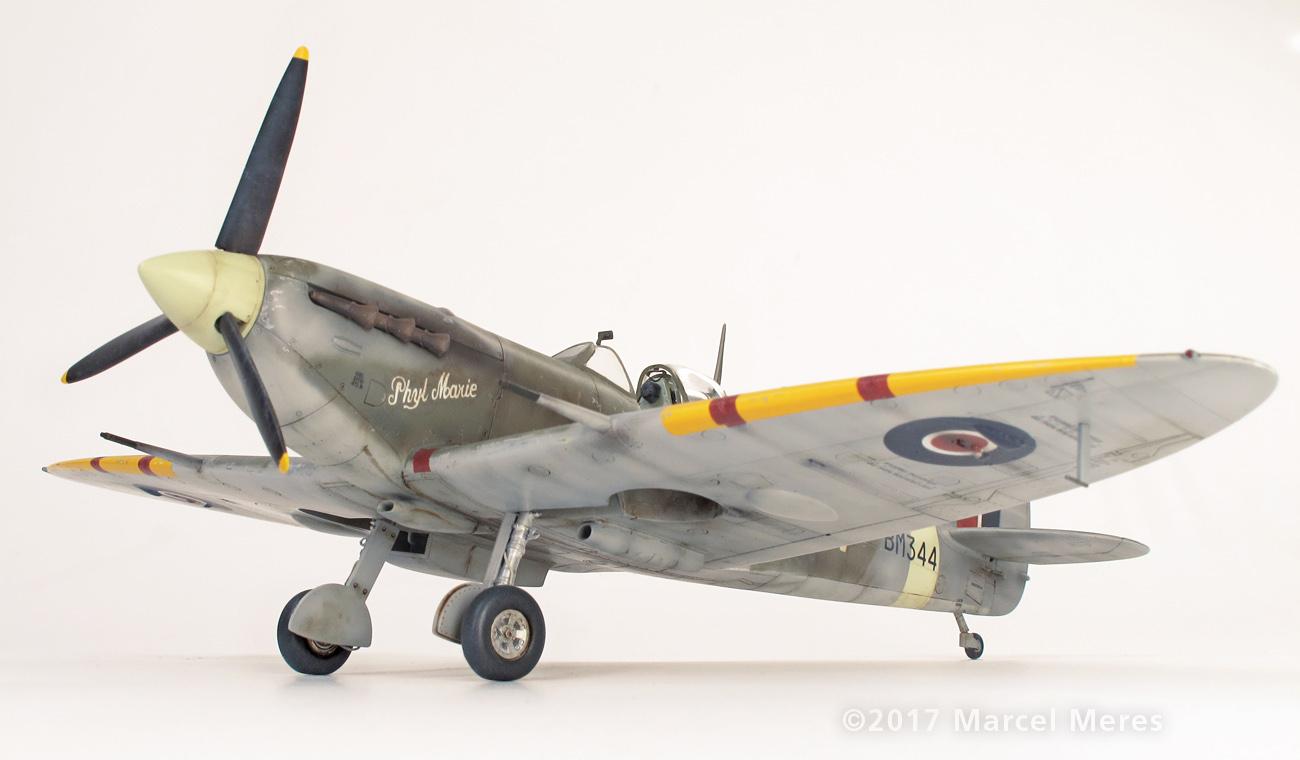 Spitfire Mk.Vb Tamiya 1/48 Phyl Marie, Port side view