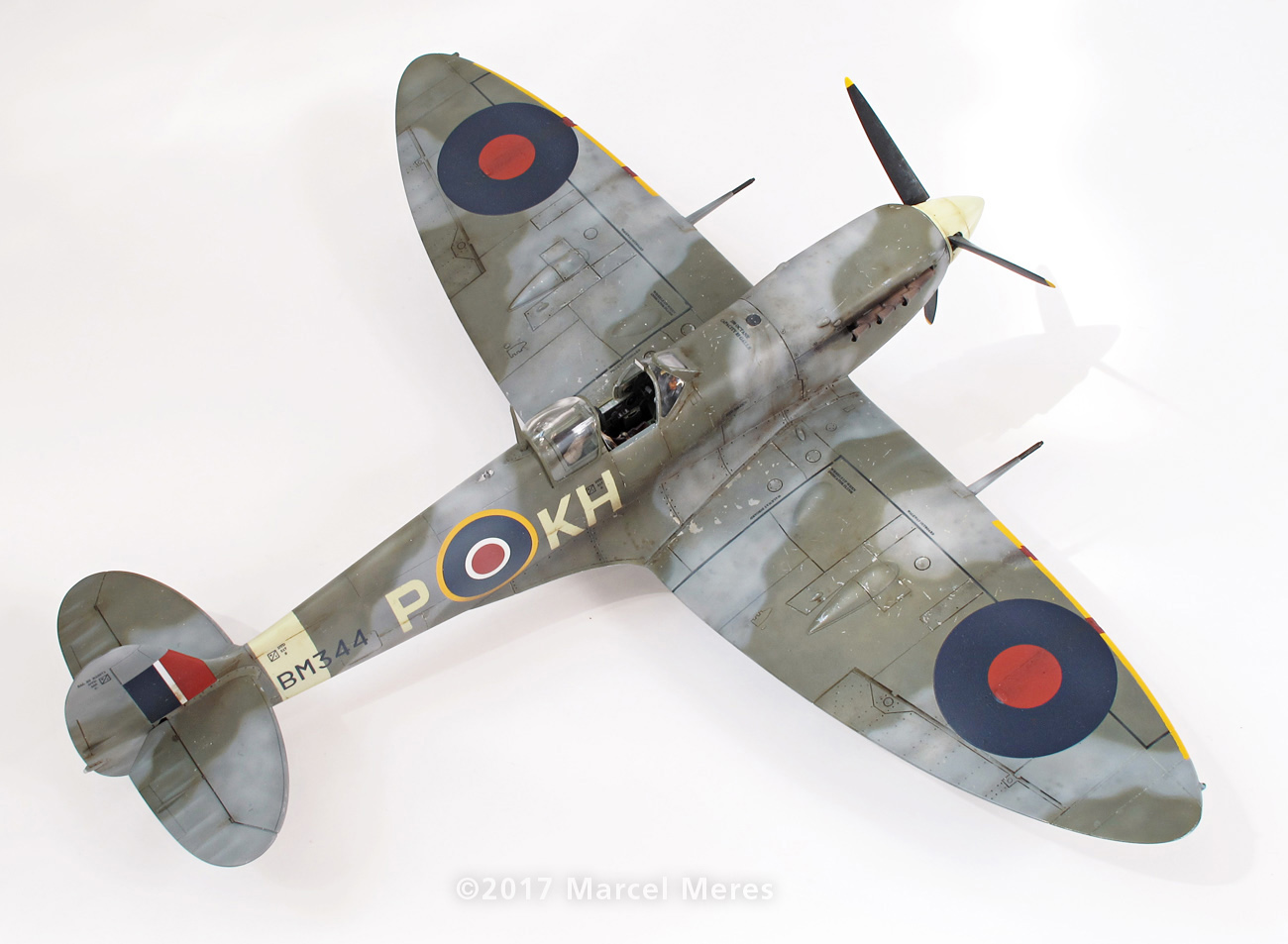 Spitfire Mk.Vb Tamiya 1/48 Phyl Marie, Rear view, Top, Starboard side