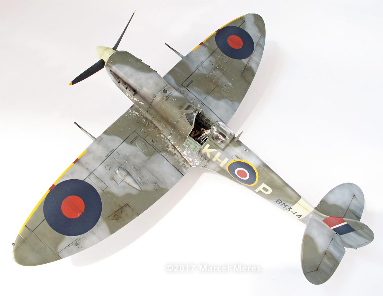 Spitfire Mk.Vb Tamiya 1/48 Phyl Marie, Rear view, Top, Port side