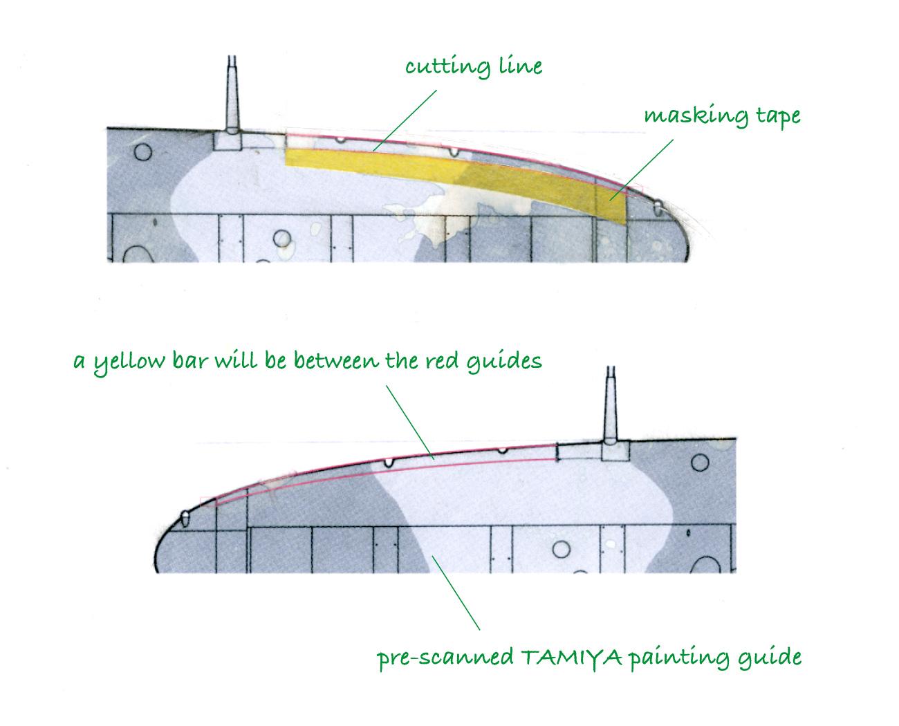 Masking the leading edge yellow bar